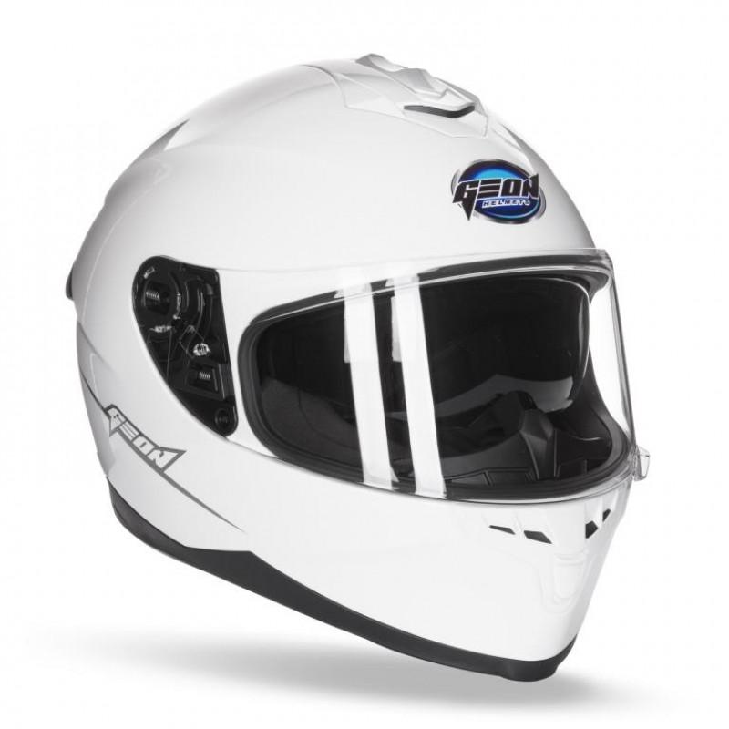 Шлем интеграл с очками GEON 967-2  White