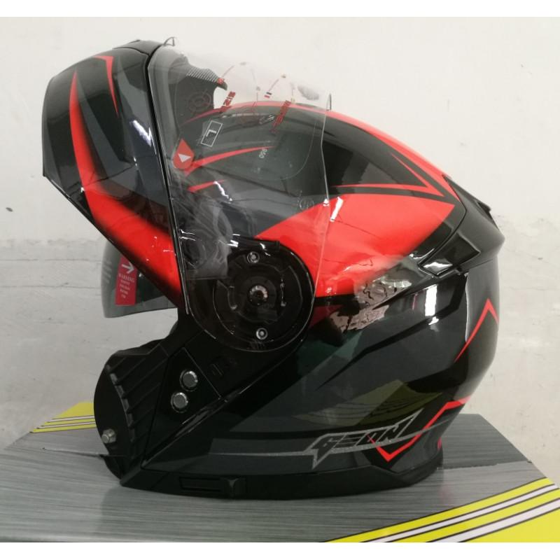 Шлем модуляр з окулярами GEON 950 Fury Red Black