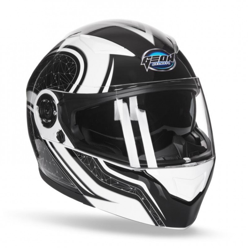 Шлем модуляр з окулярами GEON 950 Stars Black White