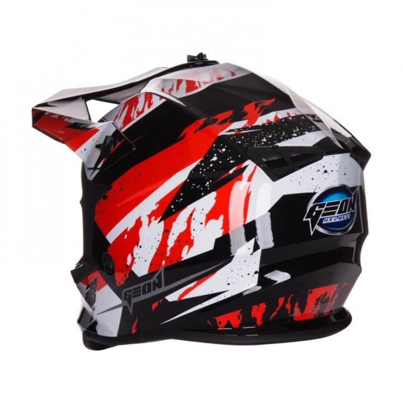 Шлем GEON 633 MX Fox Крос Red Black