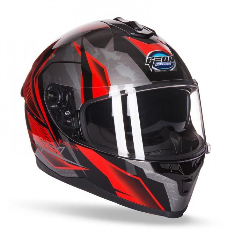 Шлем GEON 967-2 Scorpio Red Black