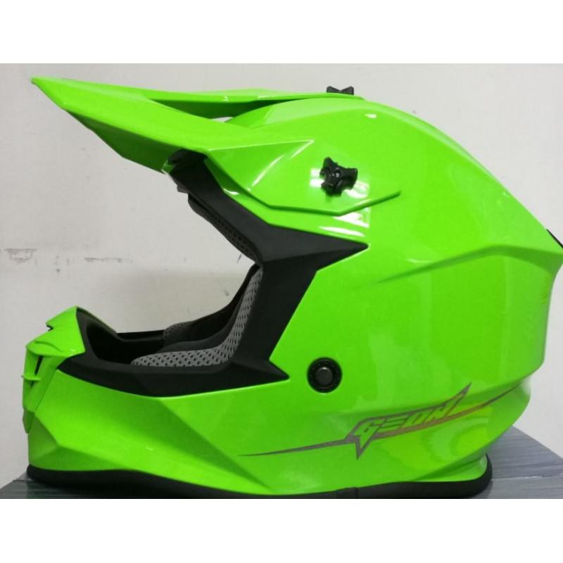Шлем GEON 633 MX Fox Крос Black Neon Green
