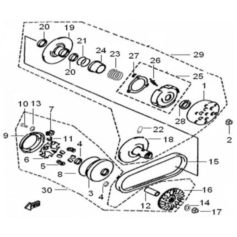 Ремень вариатора 856x23 Speed Gear 300