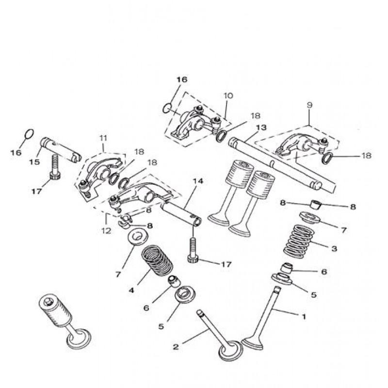 Ось впускных коромысел клапанов I (длинная) Speed Gear 700сс
