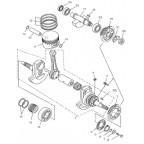 Кольца поршневые, комплект Speed gear force 500