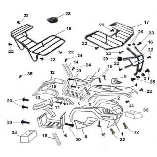 Багажник передний (железный) Speed Gear 300