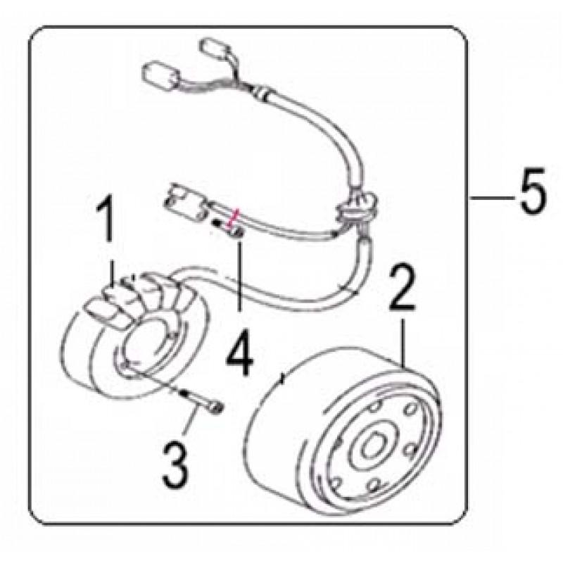 Ротор генератора на квадроцикл Speed Gear 300