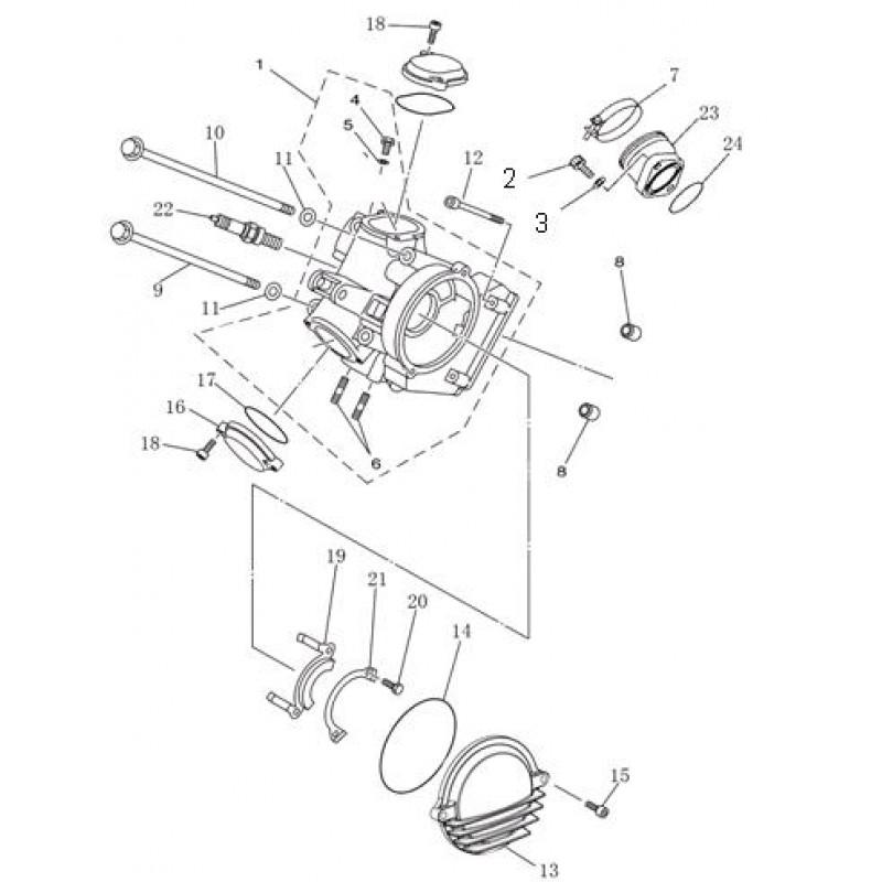 Головка цилиндра (пустая) Speed gear force 400