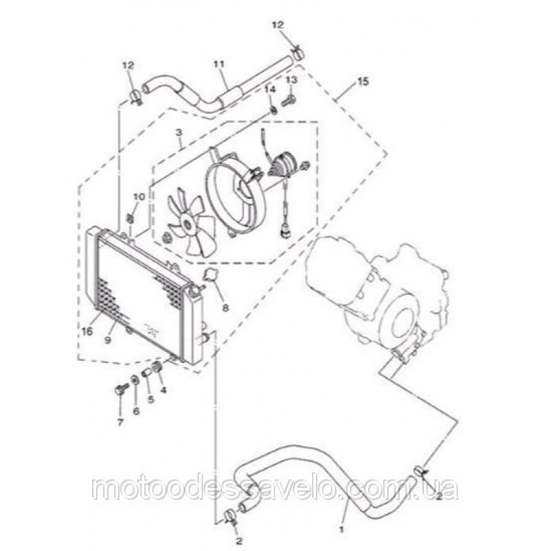 Радиатор на квадроцикл Speed gear force 400