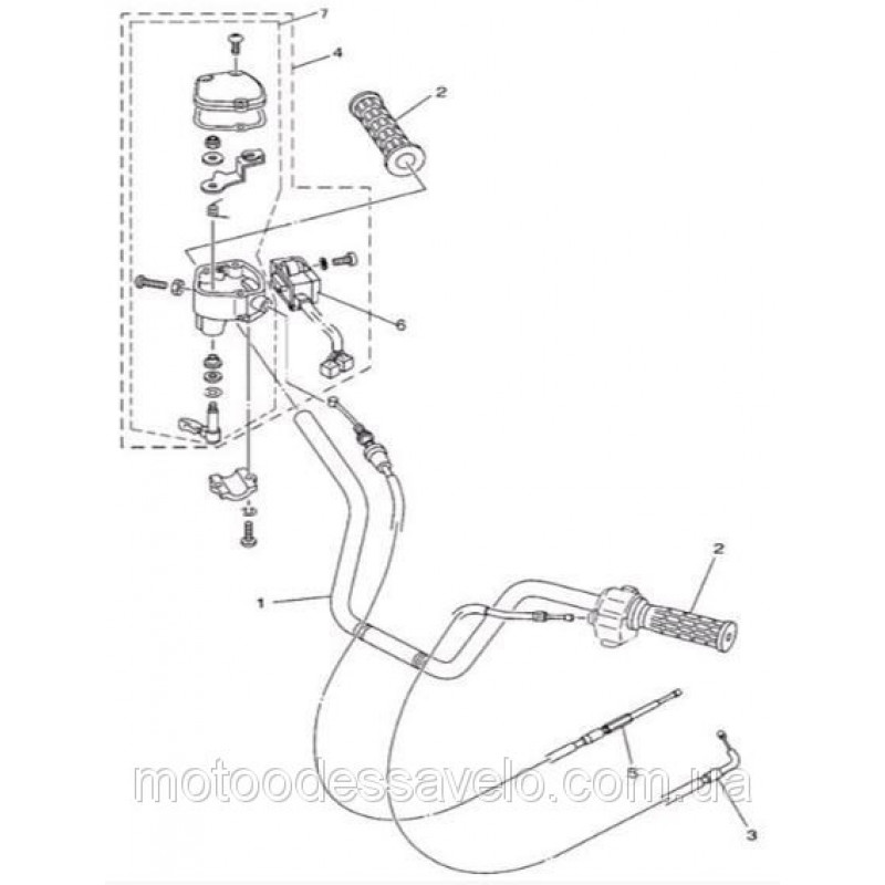 Трос подсоса на квадроцикл Speed gear force 400