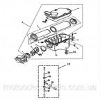 Корпус воздушного фильтра в сборе на квадроцикл Speed gear force 400