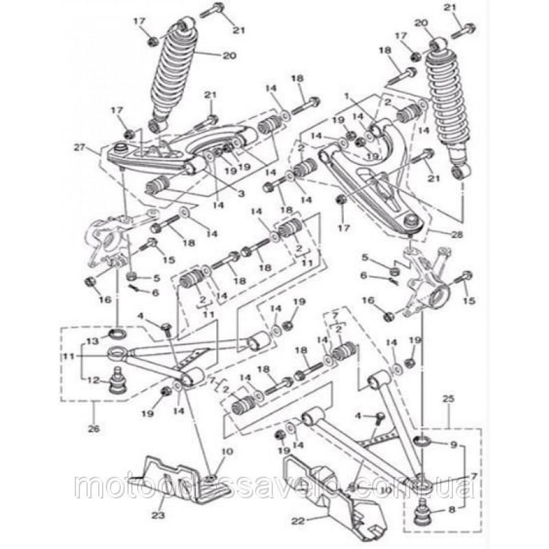 Сайлентблок рычагов подвески на квадроцикл Speed gear force 400