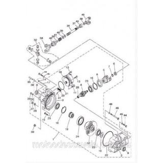 Вал карданный переднего редуктора L=166 mm с крестовиной на квадроцикл Speed gear 400