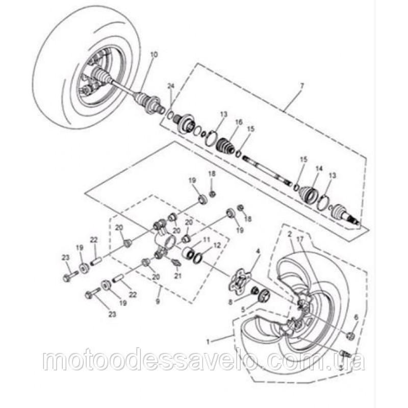 Ступица заднего колеса на квадроцикл  Speed gear force 400