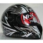 Шлем NHK 308 Y8 AXIS Black silver