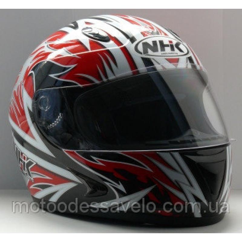 Шлем NHK 308 Y8 AXIS Black red