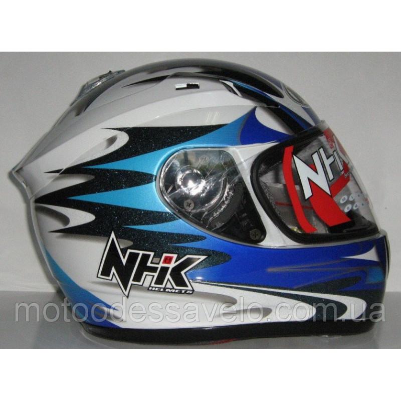 Шлем NHK N1200 Y10 SBK blue