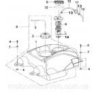 Резинки демпферные топливного насоса φ15-6 для инжекторный двигатель Speed Gear 500