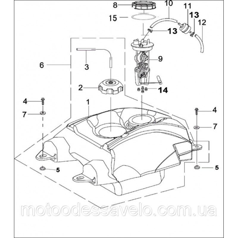 Прокладка крышки топливного насоса для инжекторный двигатель Speed Gear 700