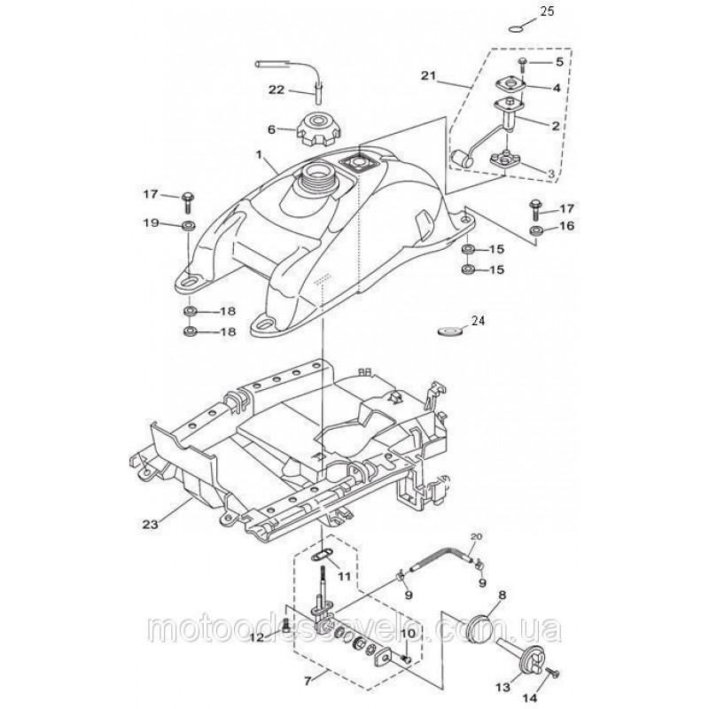 Защита бензобака нижняя Speed gear force 500