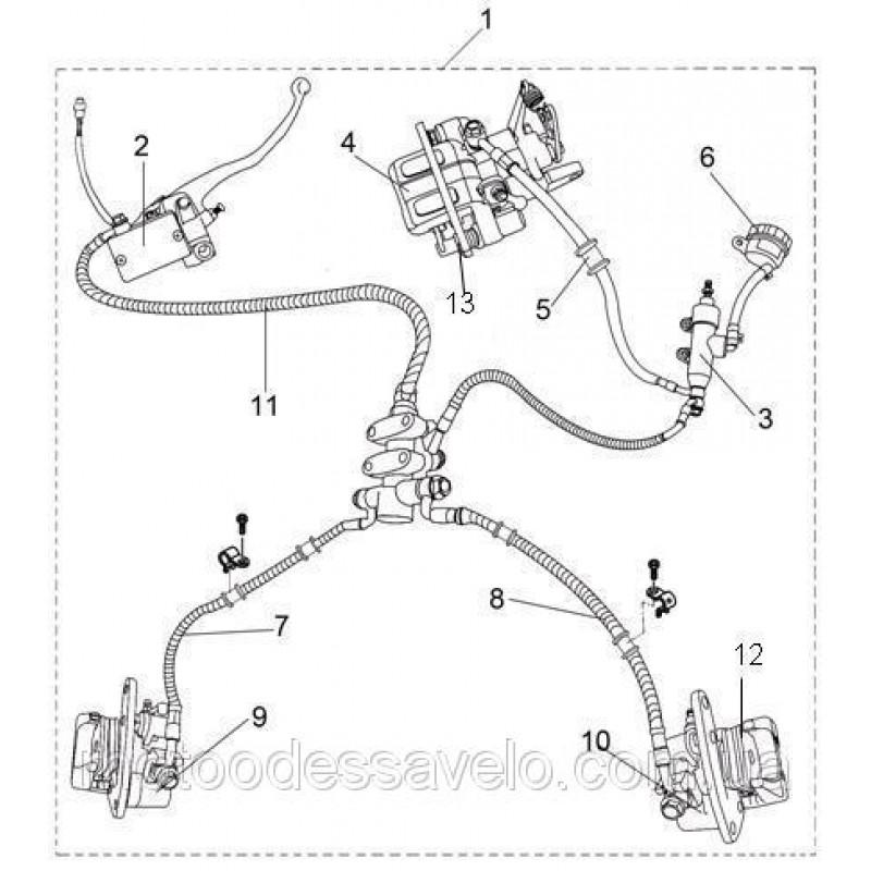 Суппорт переднего тормоза левый Speed Gear 400