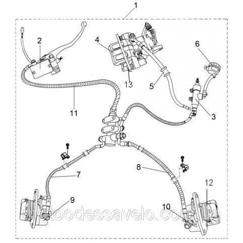 Суппорт переднего тормоза правый Speed Gear 500