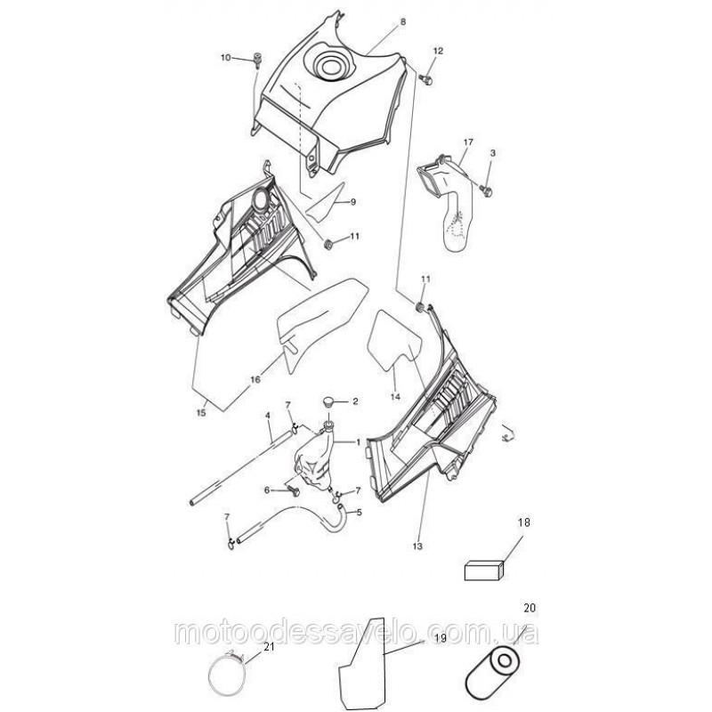 Труба охлаждения заднего тормоза Speed Gear 500