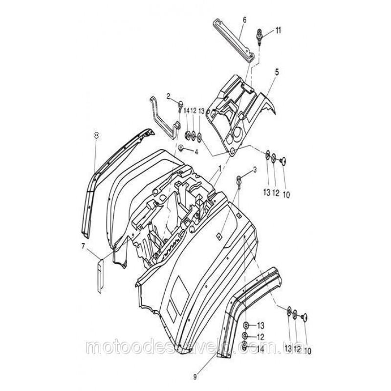 Пластик-расширитель арки правый задний Speed Gear 500