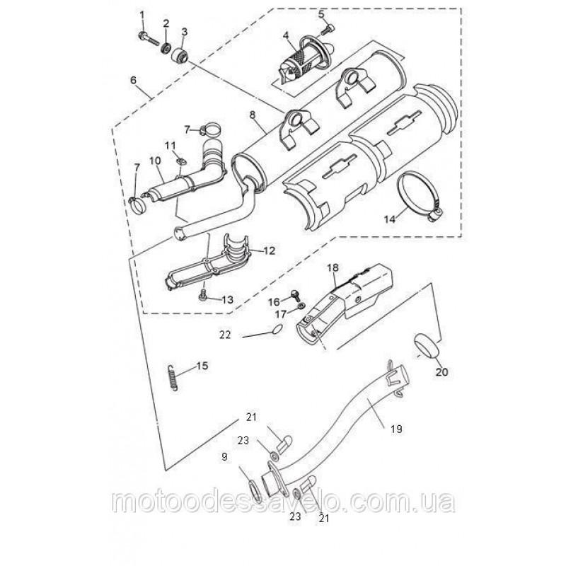 Кольцо-прокладка выхлопной трубы Speed Gear 400
