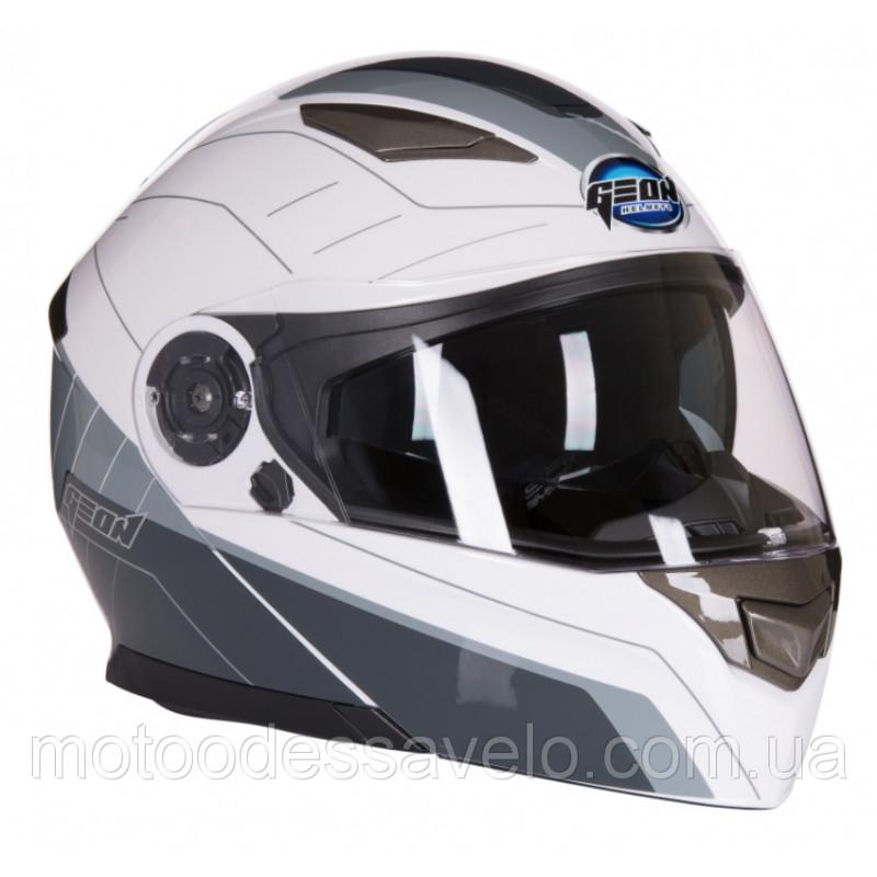 Шлем Geon 950 Модуляр с очками Tour Grey White