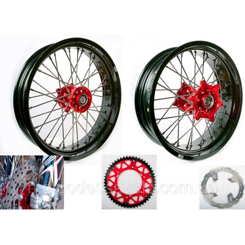 Комплект колесных дисков для Мотард GN-motors диск тормозной 290 мм