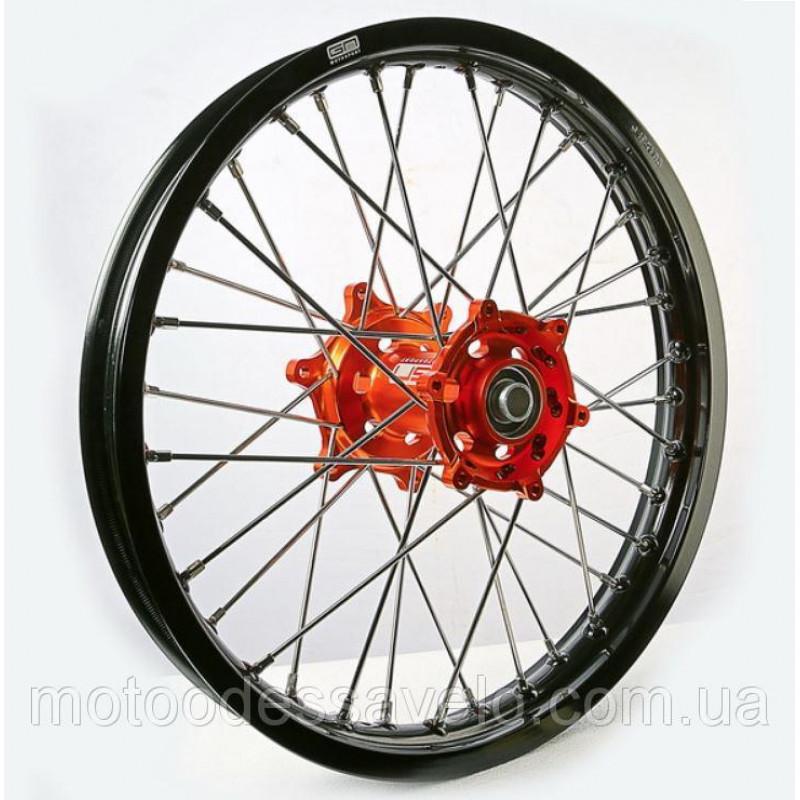 Диск алюминиевый спицованный GN-motors KTM 1.85-19 + тормозной диск 240 мм