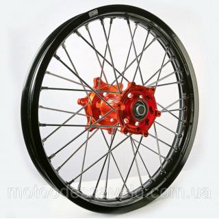 Диск алюминиевый спицованный GN-motors KTM 2.15-18+ тормозной диск 240 мм