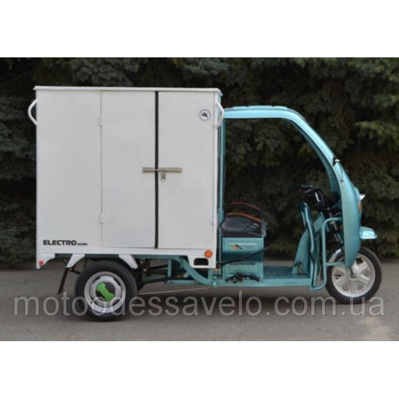 Грузовой электротрицикл Hercules Electro- кабина+будка