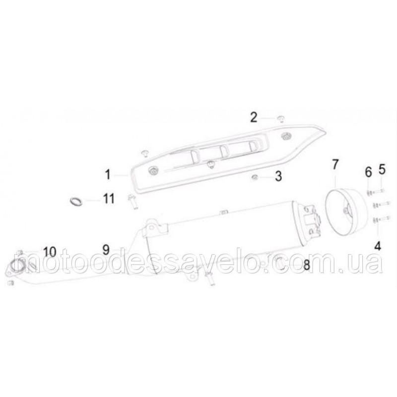 Прокладка (кольцо) глушителя SilverBlade 250i