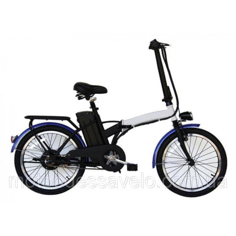 Электровелосипед складной Volta Ion 350w 36v чёрный-белый