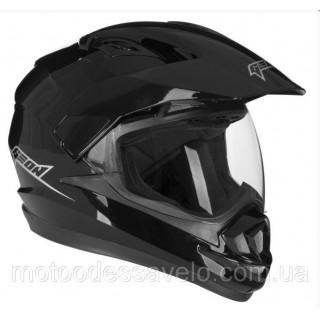 Шлем Geon 714 Дуал-спорт Trek Black
