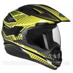 Шлем Geon 714 Дуал-спорт Trek Black Yellow