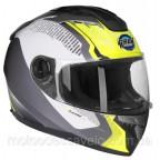 Шлем GEON 968 NEW Интеграл Stealth White Yellow