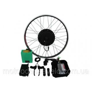 """Электронабор для велосипеда 1000W48V 20-28"""" полный набор с Li-on аккумуляторами 15.6 Ah"""