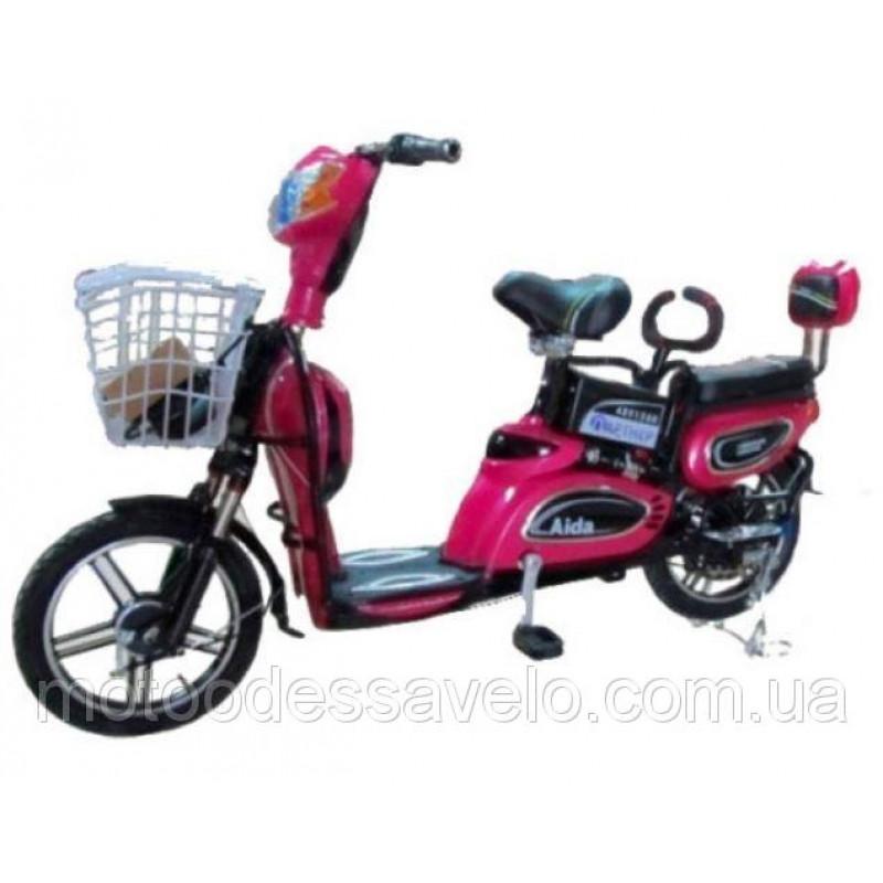 Электровелосипед Партнёр Aida 350W 48V красный