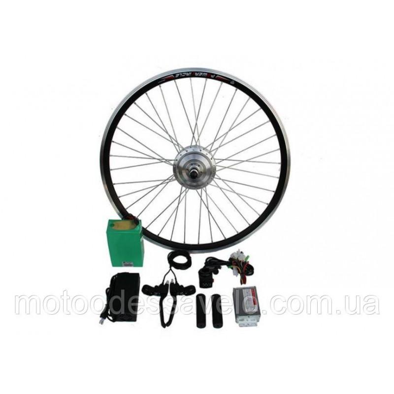 """Электронабор для велосипеда 350W48V 20-28"""" полный набор с Li-on аккумуляторами 6.4Ah"""